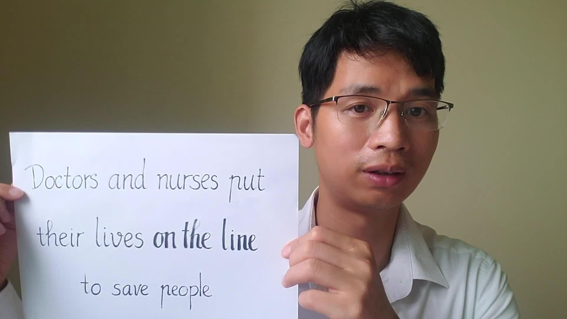 Cách diễn đạt 'on the line'