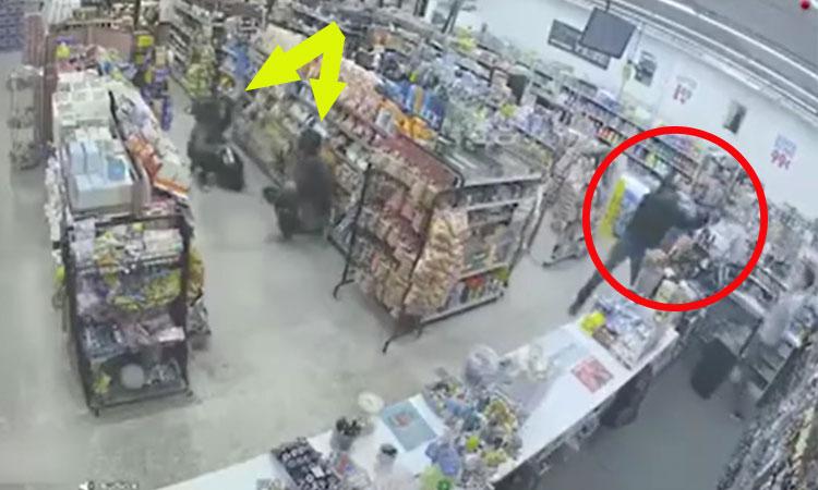 Hai tên trộm hạ gục tên cướp
