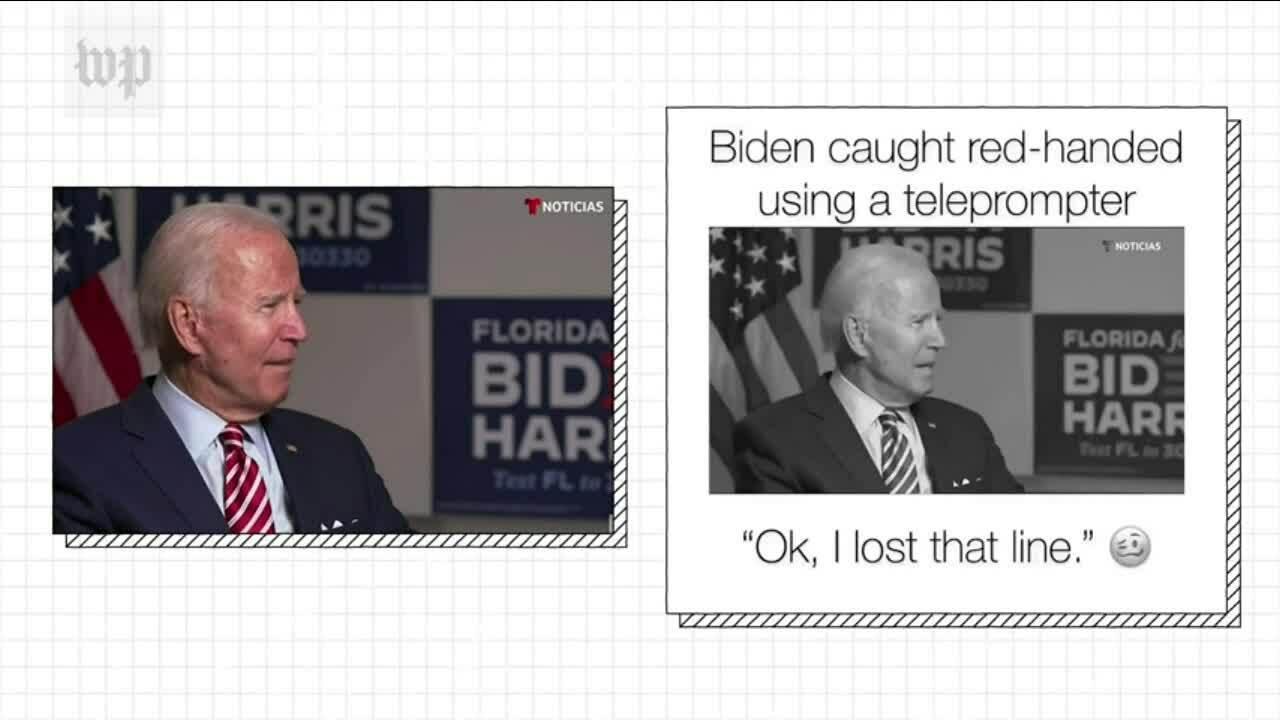 Bằng chứng cho thấy Joe Biden không dùng máy nhắc chữ