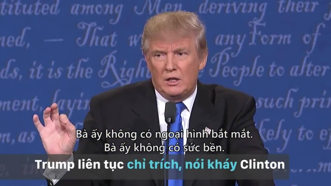 Ba lần Trump - Clinton tranh luận