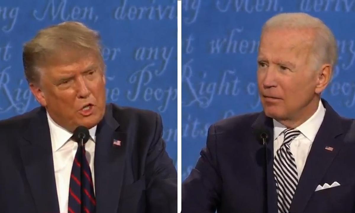 Trump liên tục ngắt lời Biden khi tranh luận