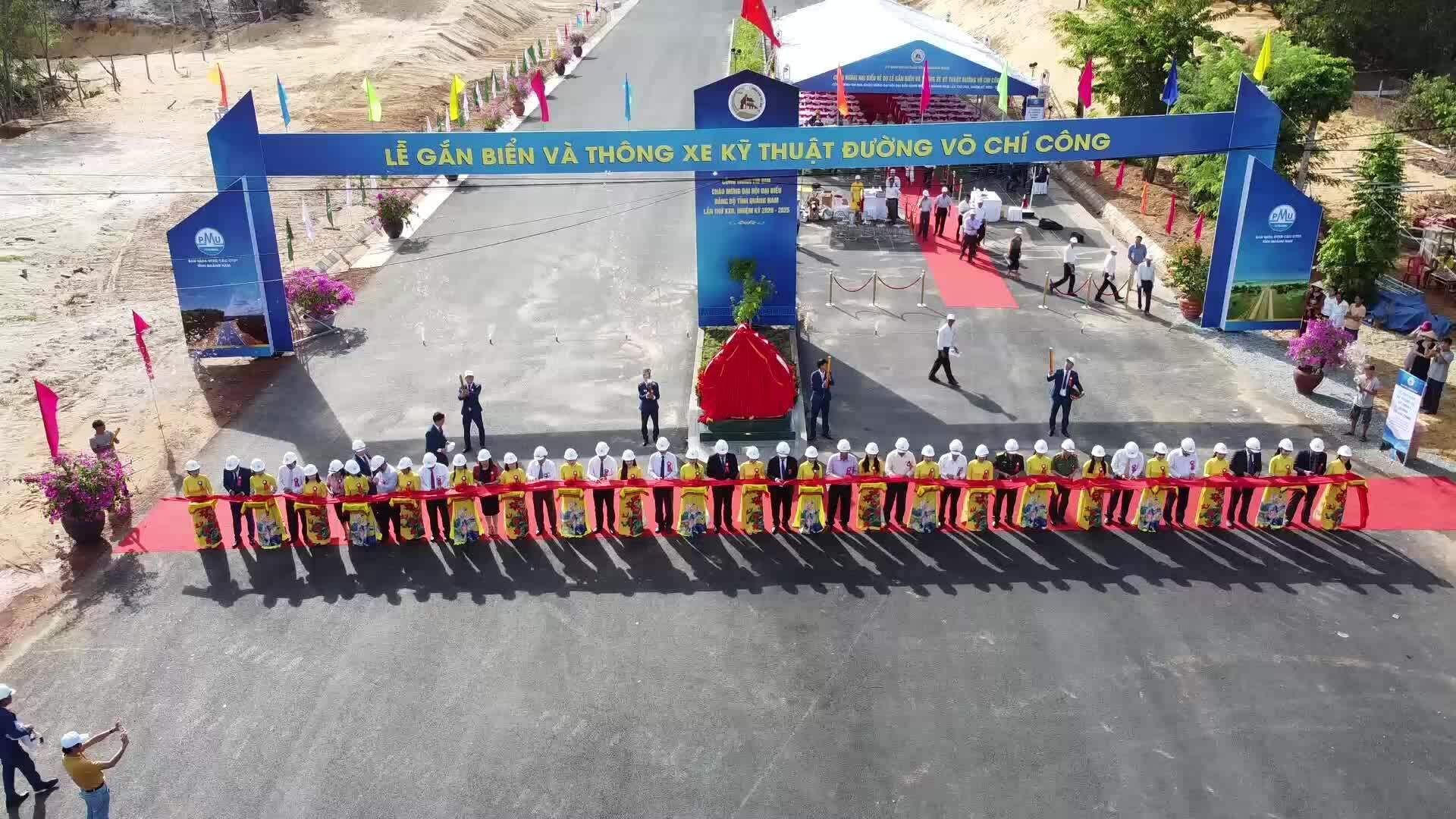 Thông xe kỹ thuật tuyến đường ven biển Quảng Nam