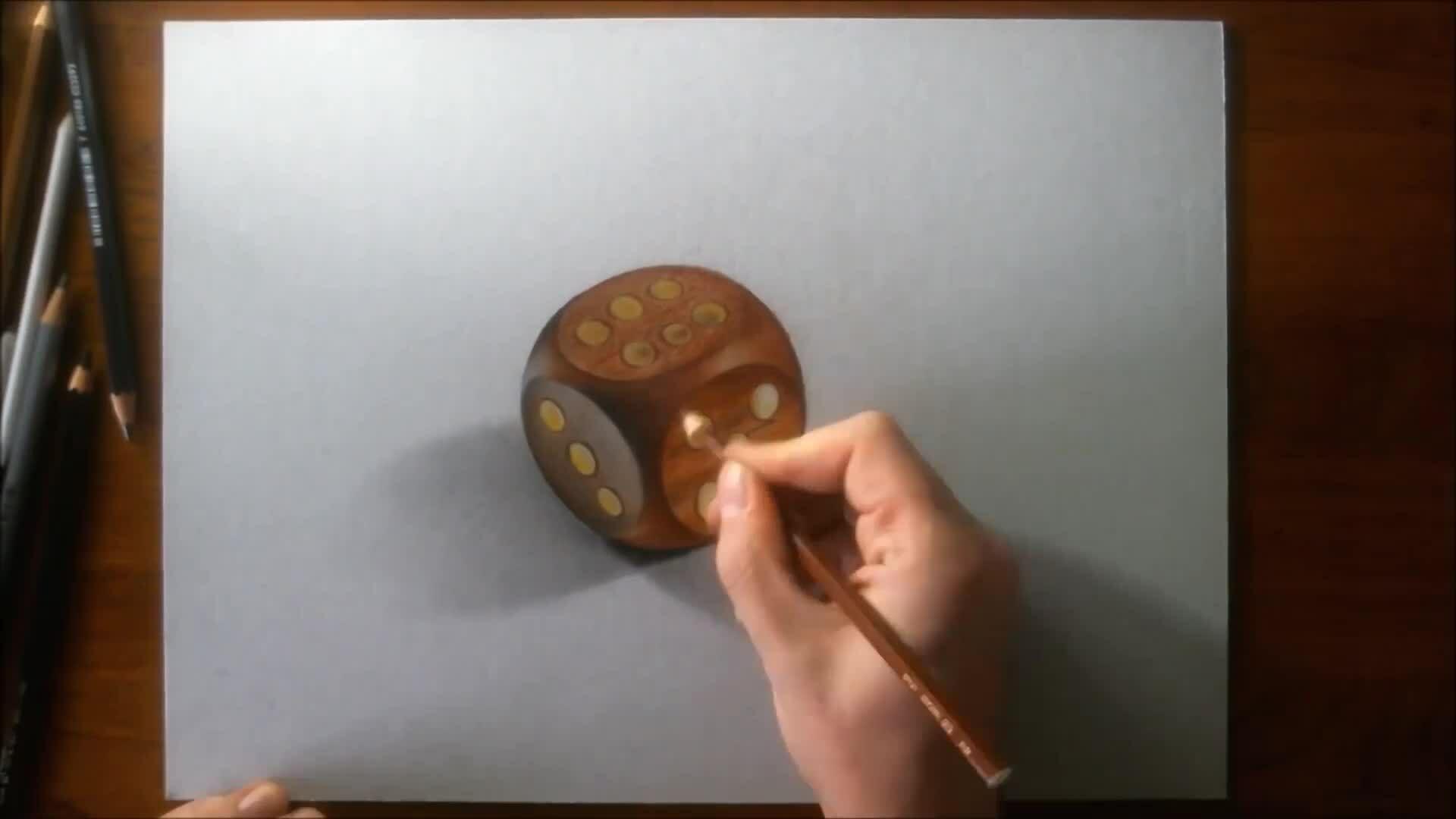 Vẽ xúc xắc 3D
