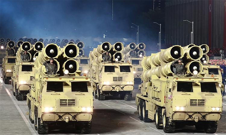 Sức mạnh dàn pháo trong lễ duyệt binh của Triều Tiên