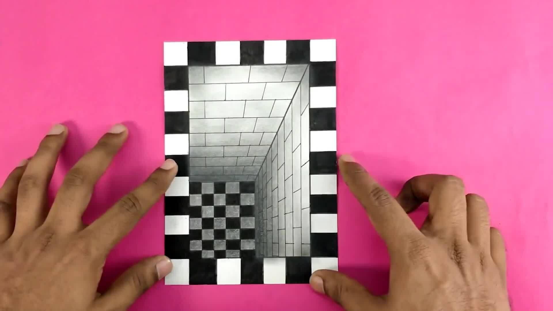 Vẽ hố 3D bằng những đường thẳng