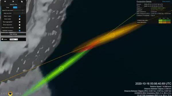 Vệ tinh Liên Xô và mảnh tên lửa Trung Quốc thoát va chạm
