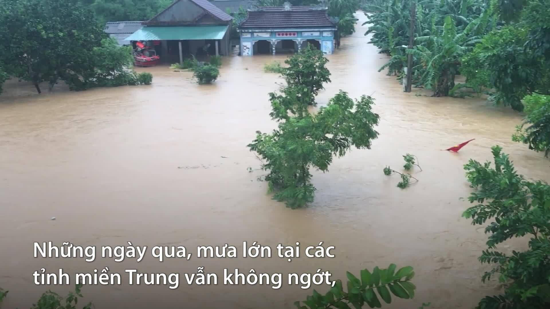 Tổng hợp thiệt hại mưa lũ miền Trung