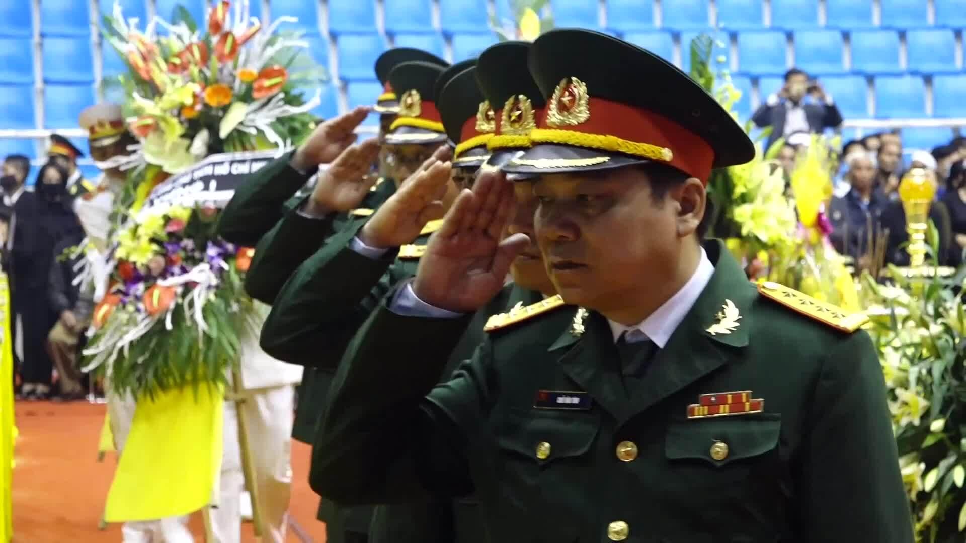 Lễ tang 22 quân nhân bị vùi lấp do sạt lở núi
