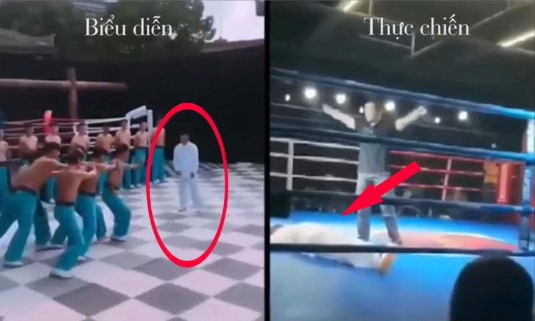 Võ sư 'truyền điện' Trung Quốc no đòn khi thách đấu võ sĩ MMA