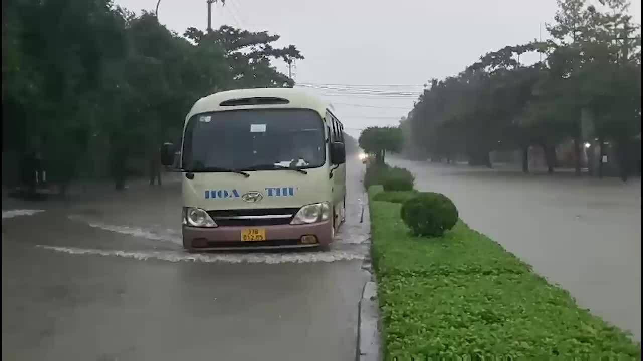 Ngập lụt tại thành phố Vinh