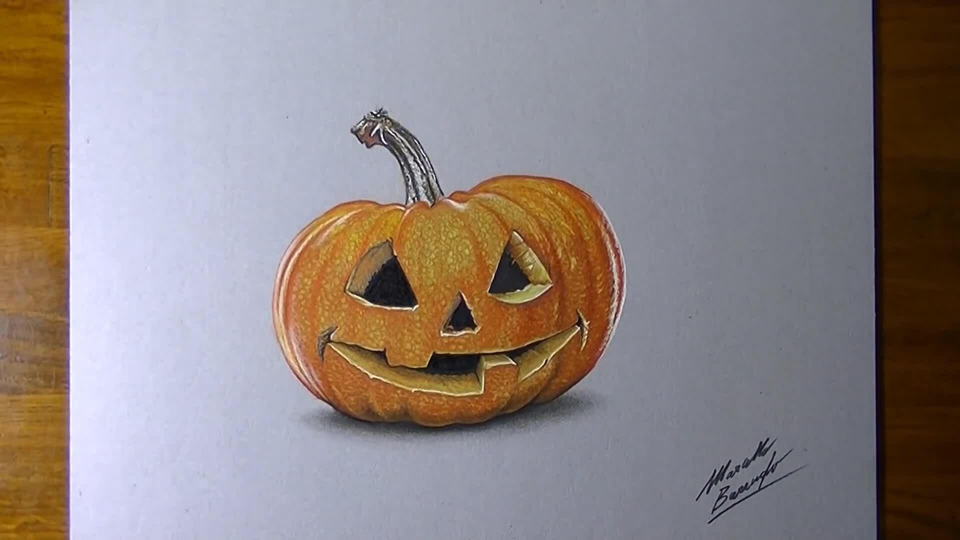 Vẽ bí ngô cho dịp Halloween