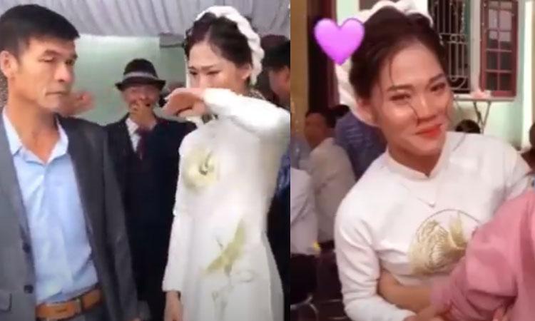 Cô dâu ngừng khóc khi bị bắt vào rửa bát