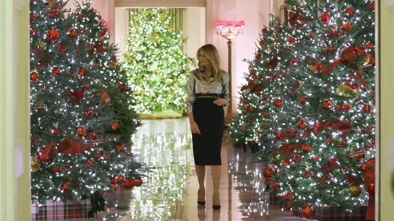 Melania công bố video trang trí Giáng sinh tại Nhà Trắng