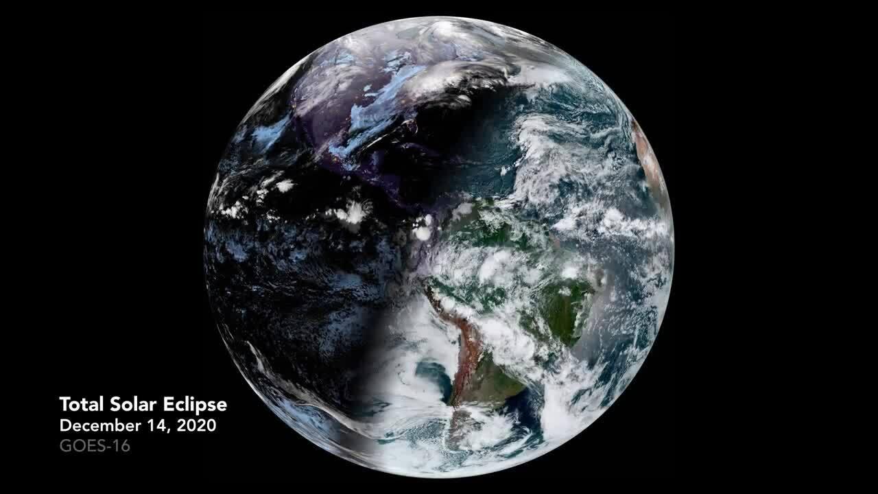 Mặt Trăng đổ bóng lên Trái Đất trong nhật thực