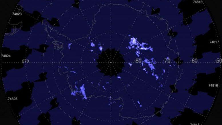 Mây dạ quang đầu tiên của mùa hè Nam Cực