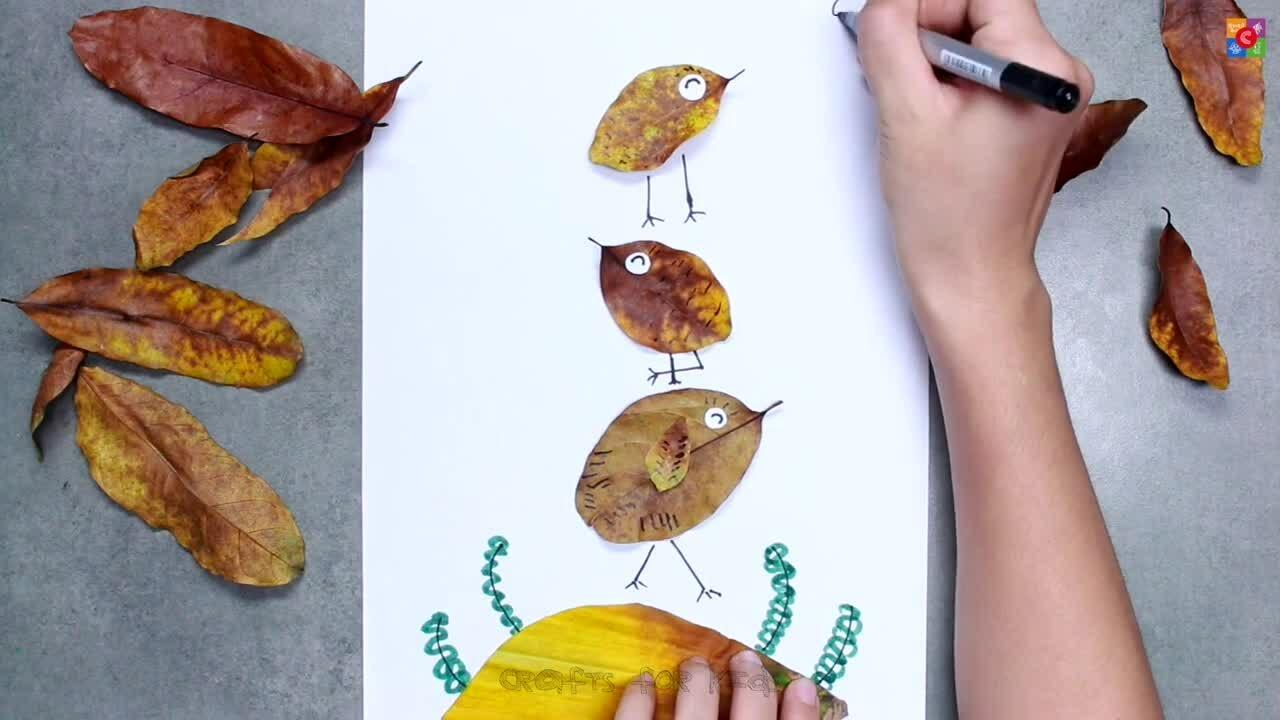 Biến lá cây, bông tẩy trang thành động vật