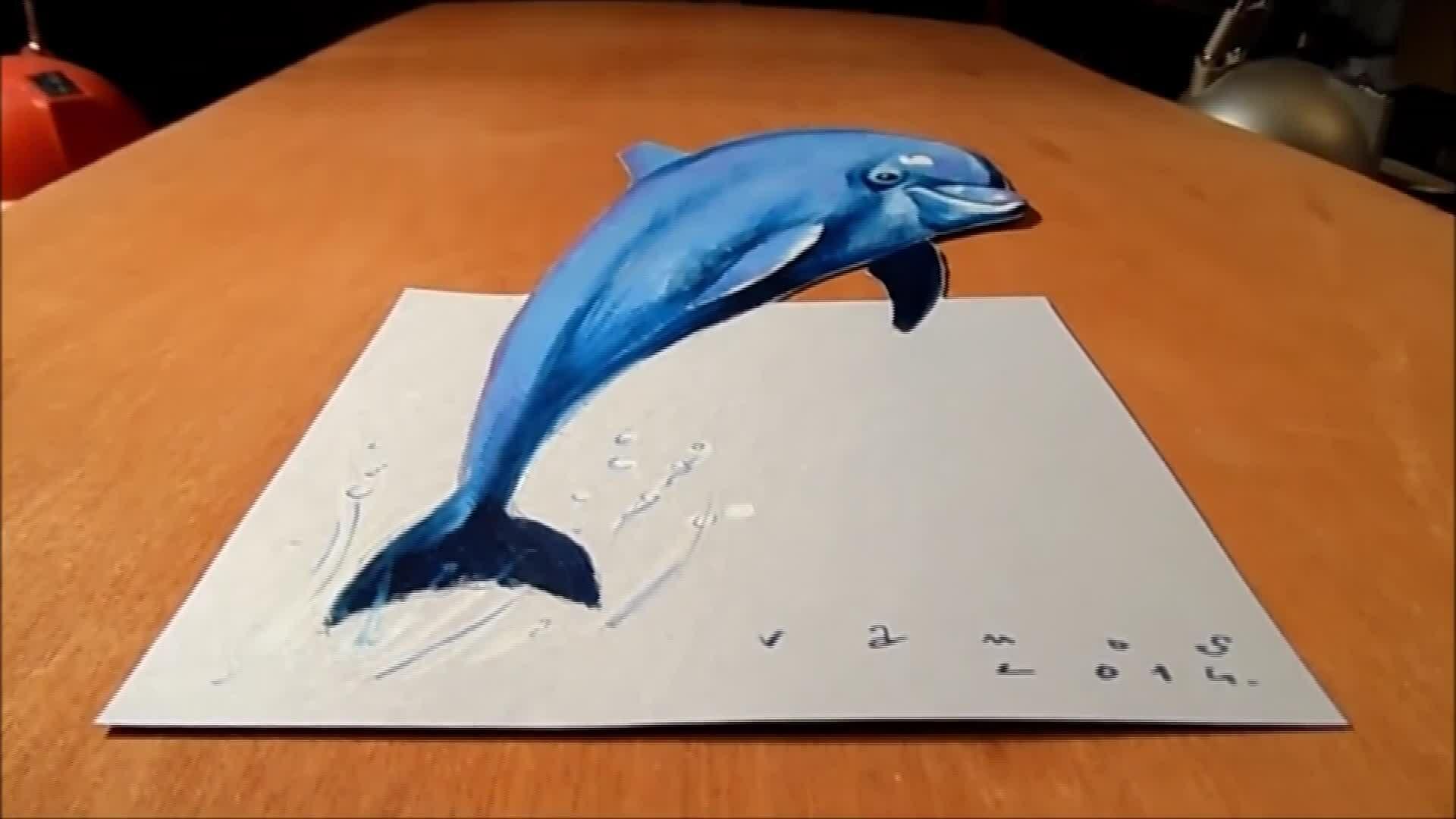 Vẽ cá heo 3D
