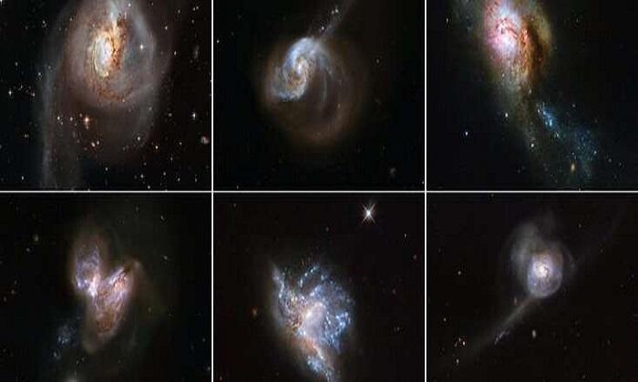 Kính Hubble theo dõi 6 vụ sáp nhập thiên hà