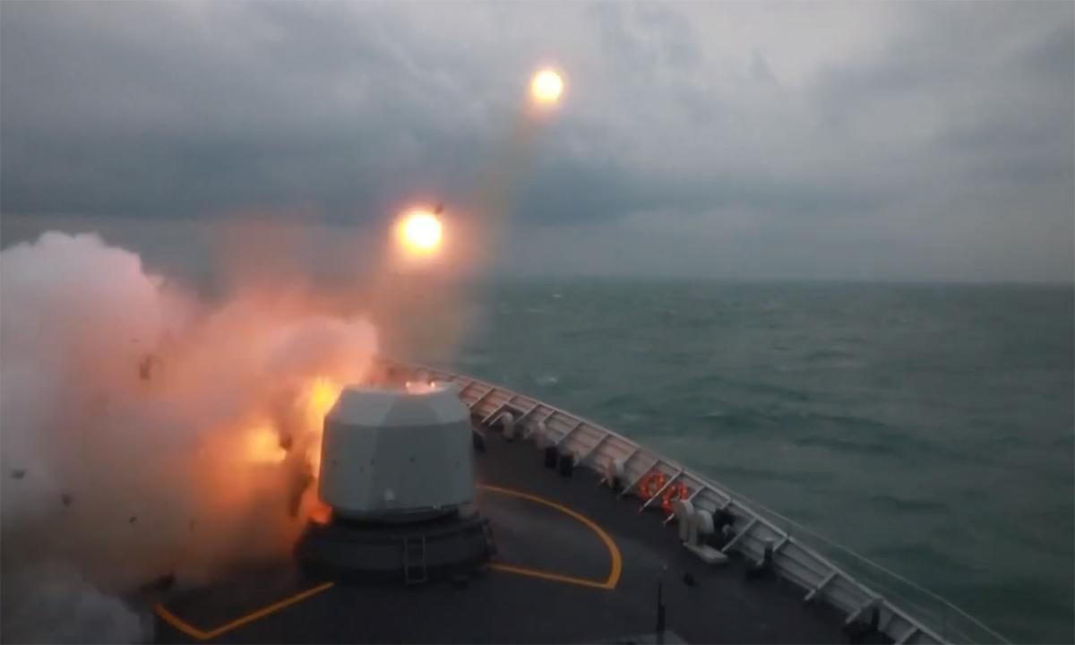 Hải quân Trung Quốc diễn tập bắn đạn thật ở biển Hoa Đông