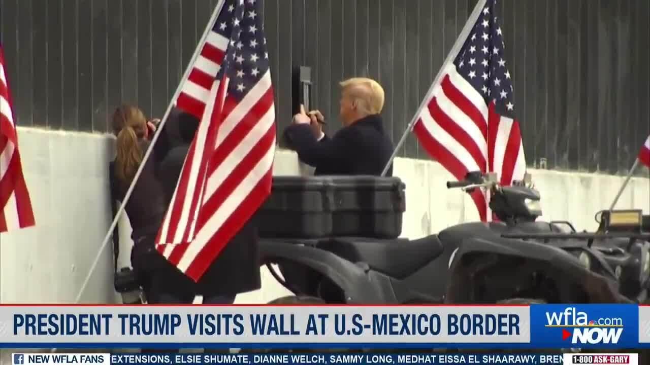 Trump ký tên lên tường biên giới, tuyên bố 'giữ lời hứa'