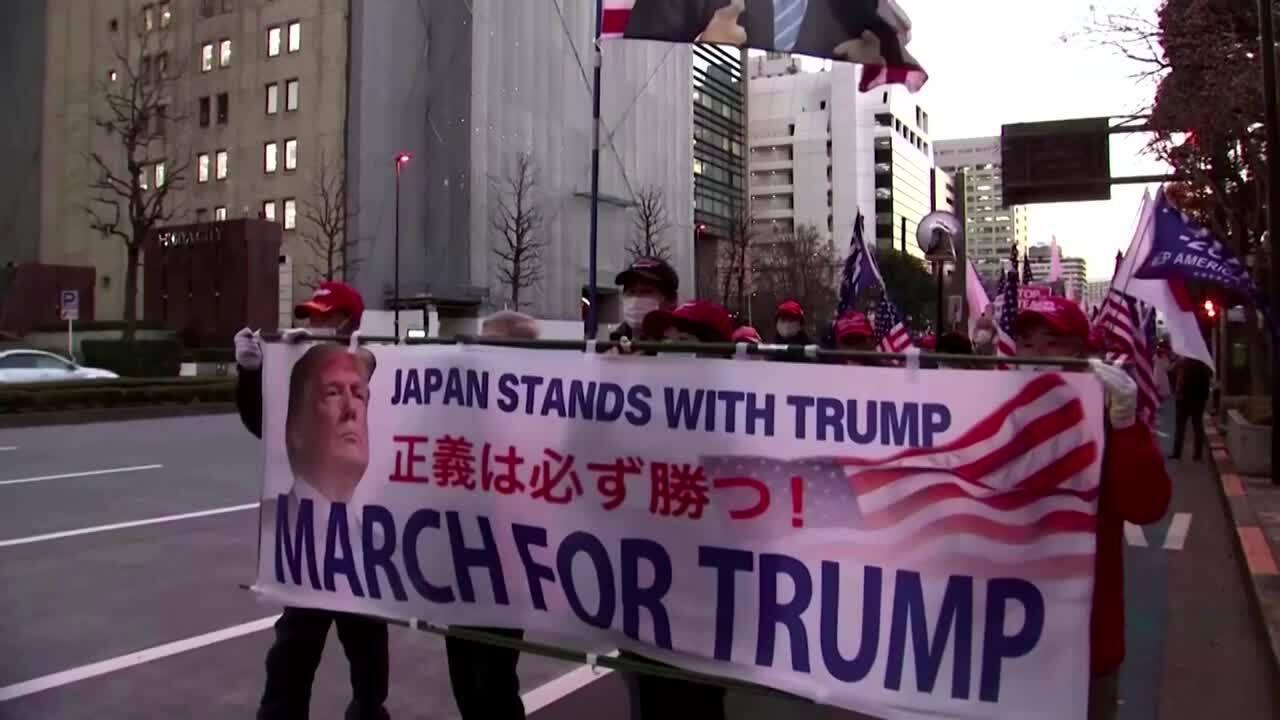 Người ủng hộ Trump tuần hành ở Nhật