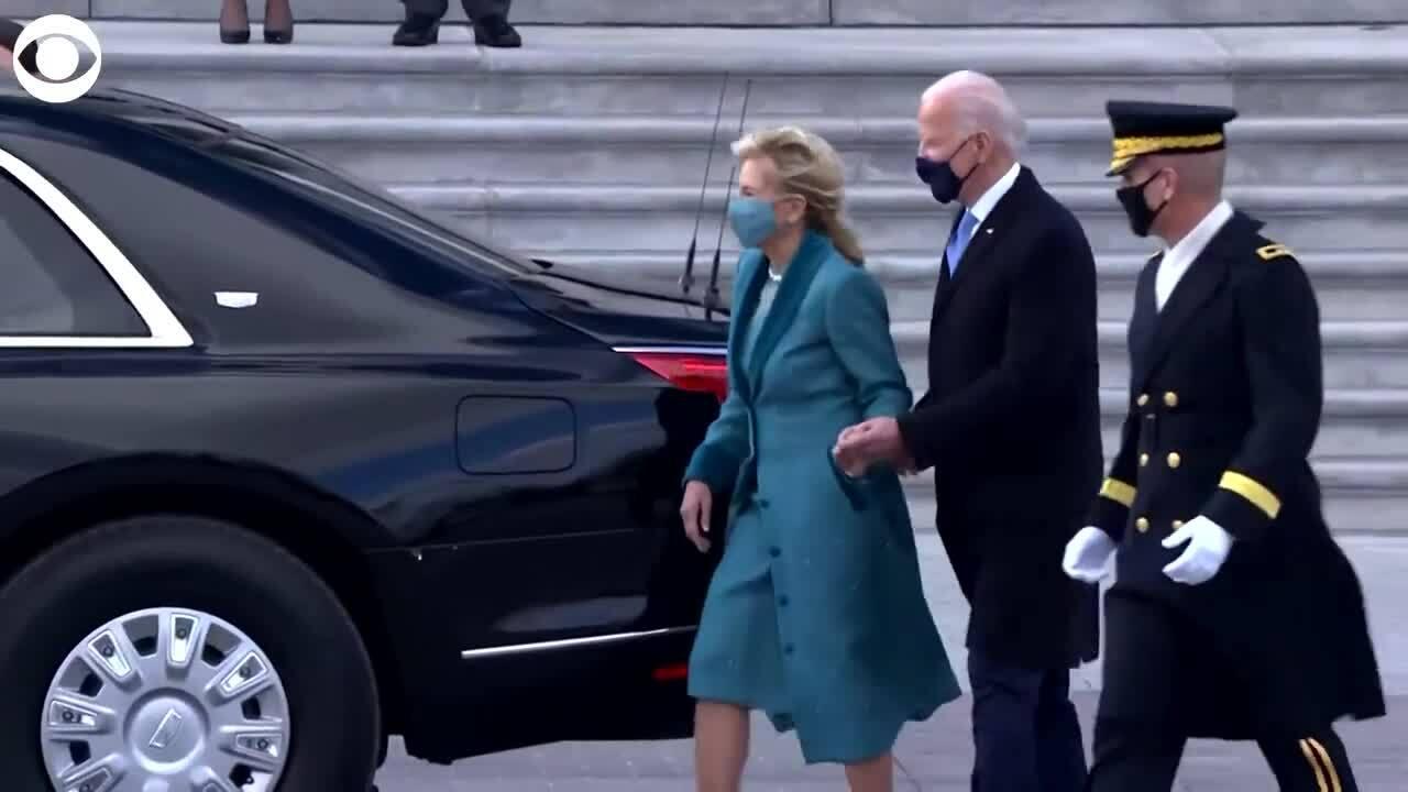 The Beast - xe limousine của Biden gắn biển số mới