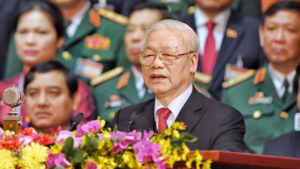 Tổng bí thư, Chủ tịch nước Nguyễn Phú Trọng phát biểu tại phiên bế mạc Đại hội XIII