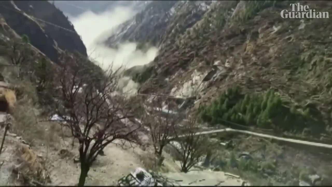 200 người mất tích sau vụ vỡ sông băng Ấn Độ