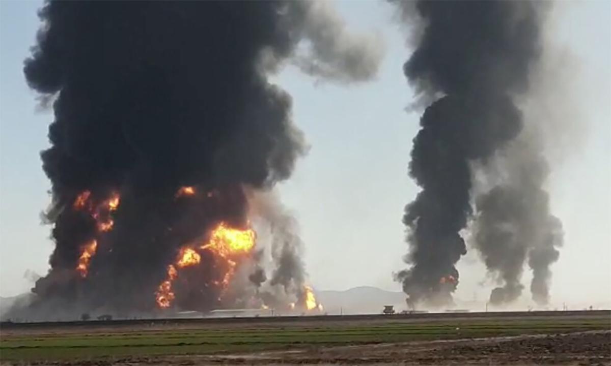 Cháy nổ lớn tại biên giới Afghanistan-Iran