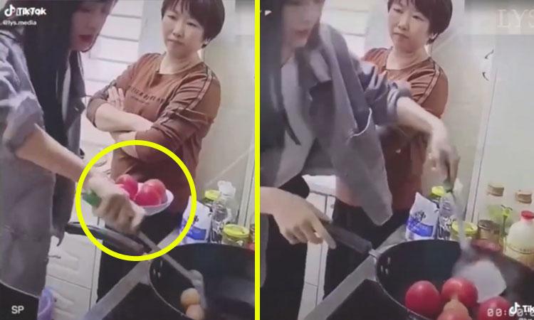 Mẹ ngán ngẩm khi con gái đoảng vào bếp