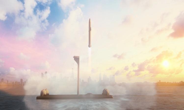 Bệ phóng nổi của SpaceX có thể hoạt động cuối năm nay