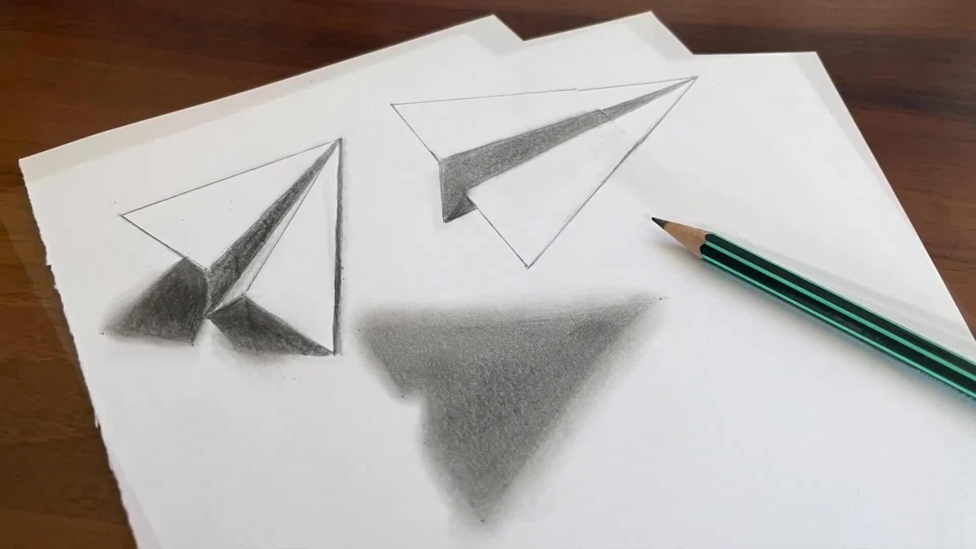 Vẽ máy bay giấy 3D