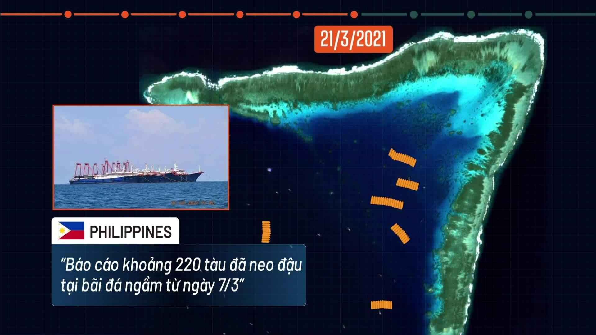 Ba tuần hiện diện của hơn 200 tàu cá Trung Quốc trên Biển Đông