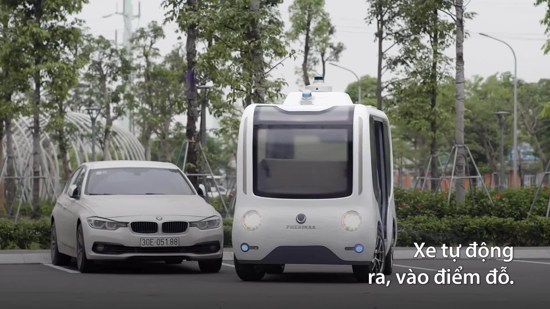 Xe điện tự hành do người Việt nghiên cứu