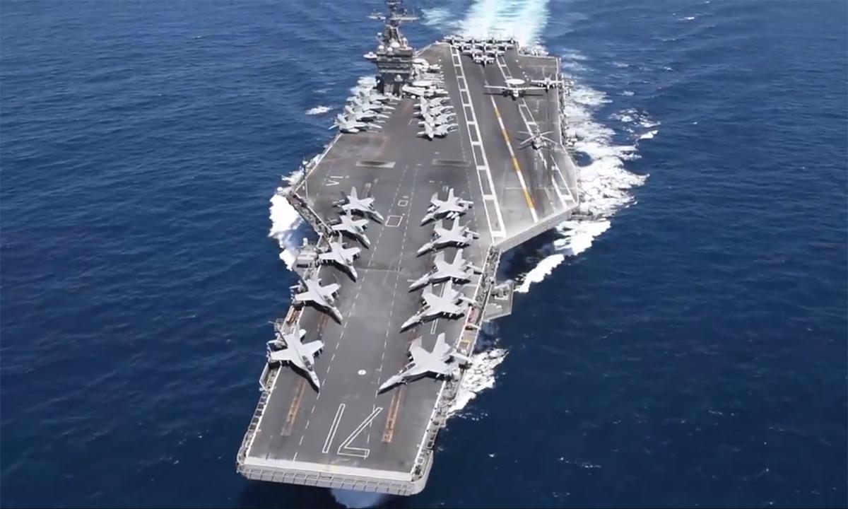 Tàu sân bay Mỹ vận hành thế nào?
