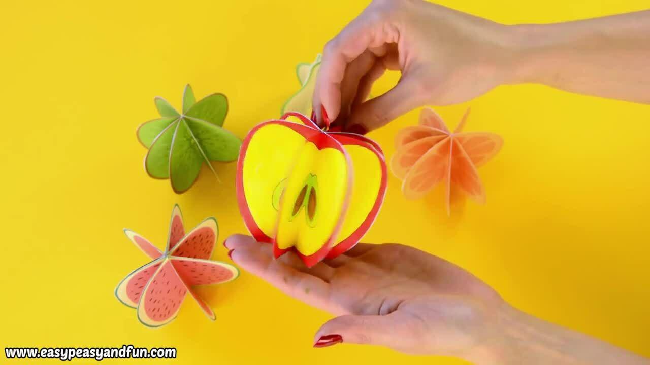 Cách làm hoa quả 3D từ giấy thủ công