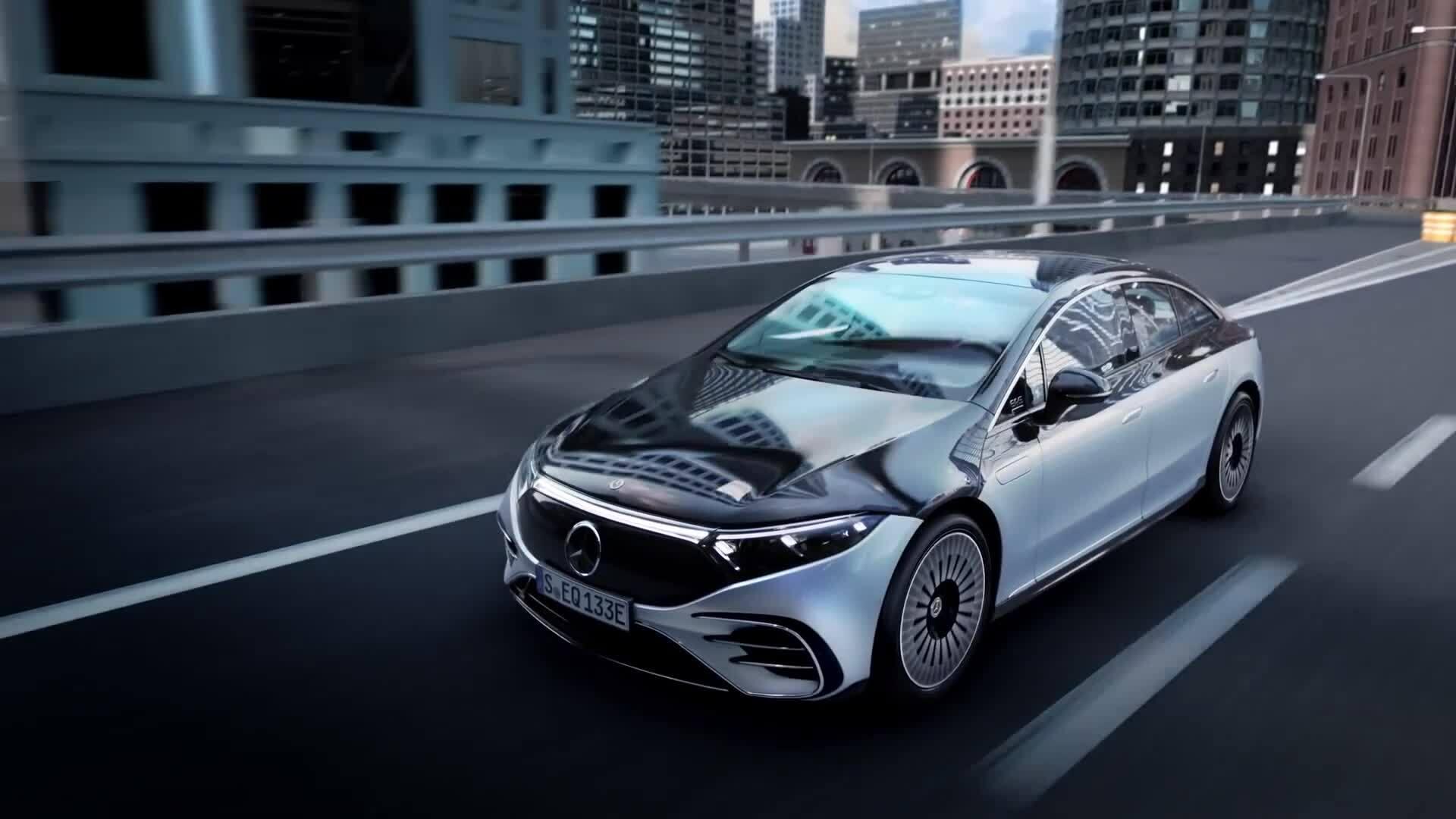 Mercedes EQS - S-class chạy điện