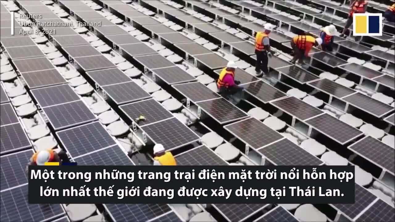 Trang trại điện mặt trời nổi rộng bằng 226 sân bóng