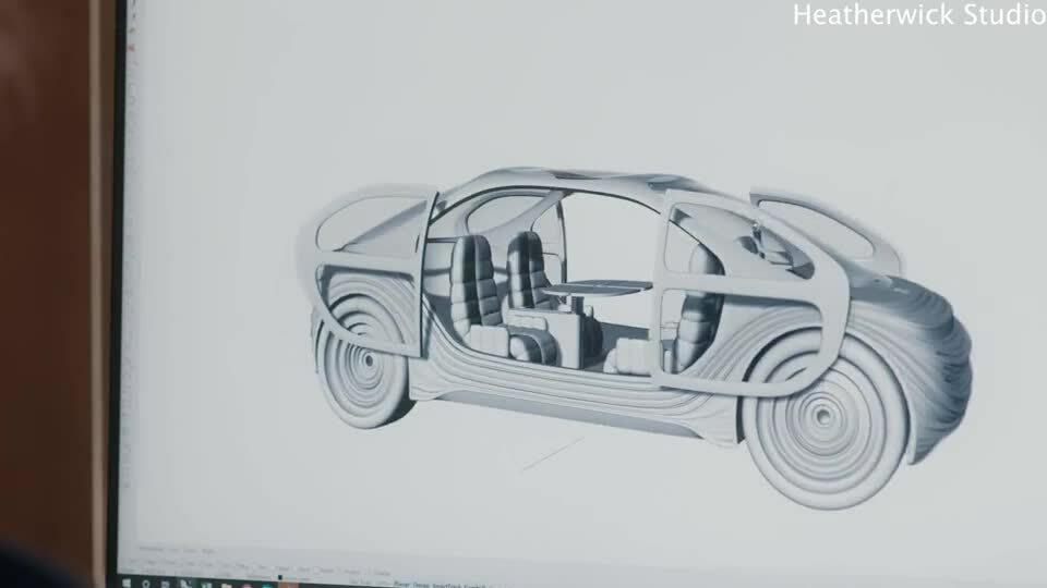 Concept xe điện tự lái có thể lọc không khí