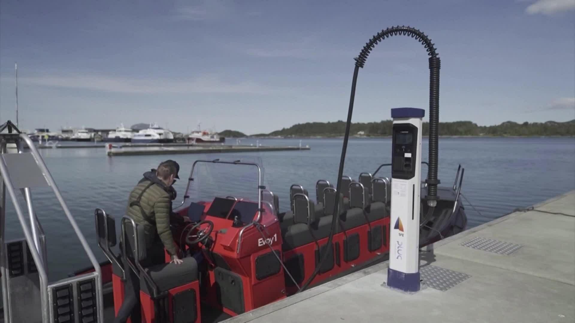 Na Uy ra mắt trạm sạc thuyền điện đầu tiên