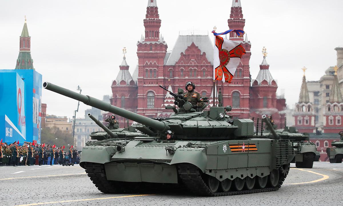 Dàn khí tài tham gia Duyệt binh Chiến thắng tại Nga