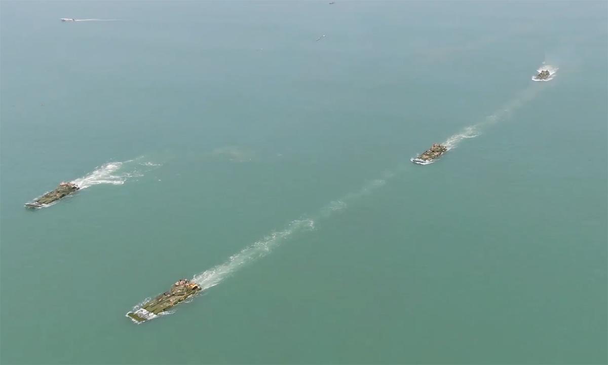 Thủy quân lục chiến Trung Quốc diễn tập đánh chiếm Đài Loan