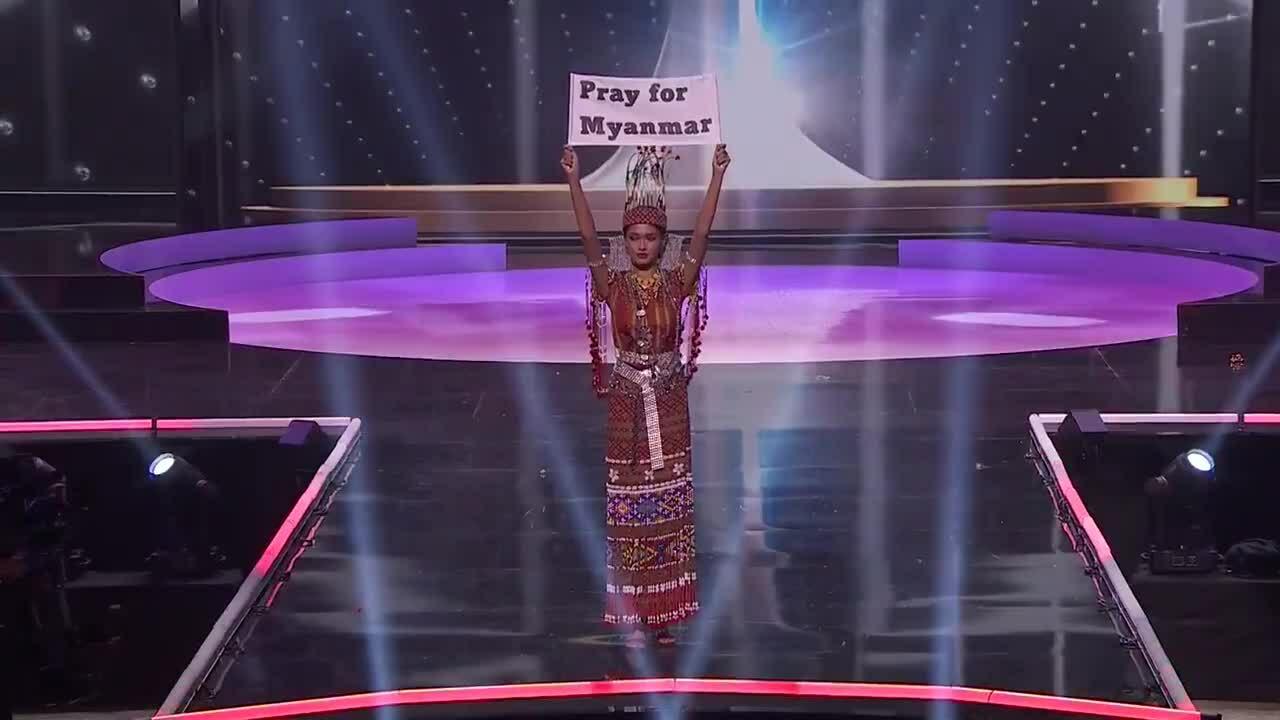 Hoa hậu Myanmar gửi thông điệp cầu nguyện cho đất nước