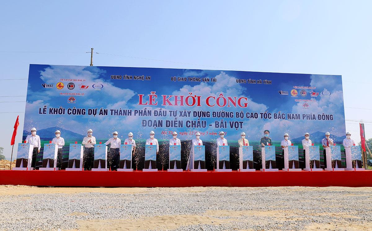 Video lễ khởi công cao tốc Diễn Châu - Bãi Vọt