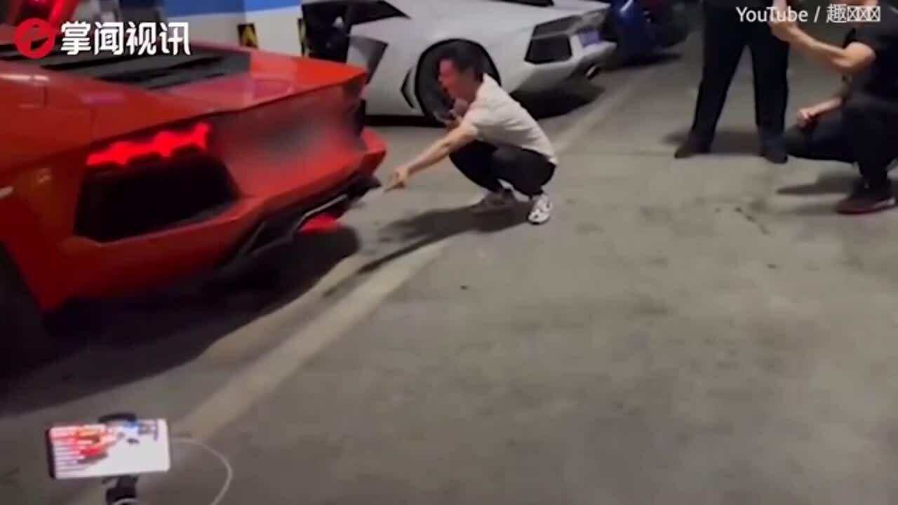 Dùng lửa ống xả nướng thịt, siêu xe Lamborghini bốc khói