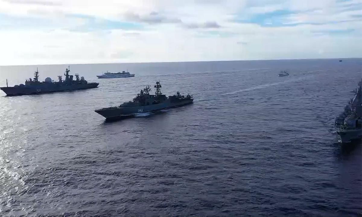 20 chiến hạm Nga diễn tập giữa Thái Bình Dương