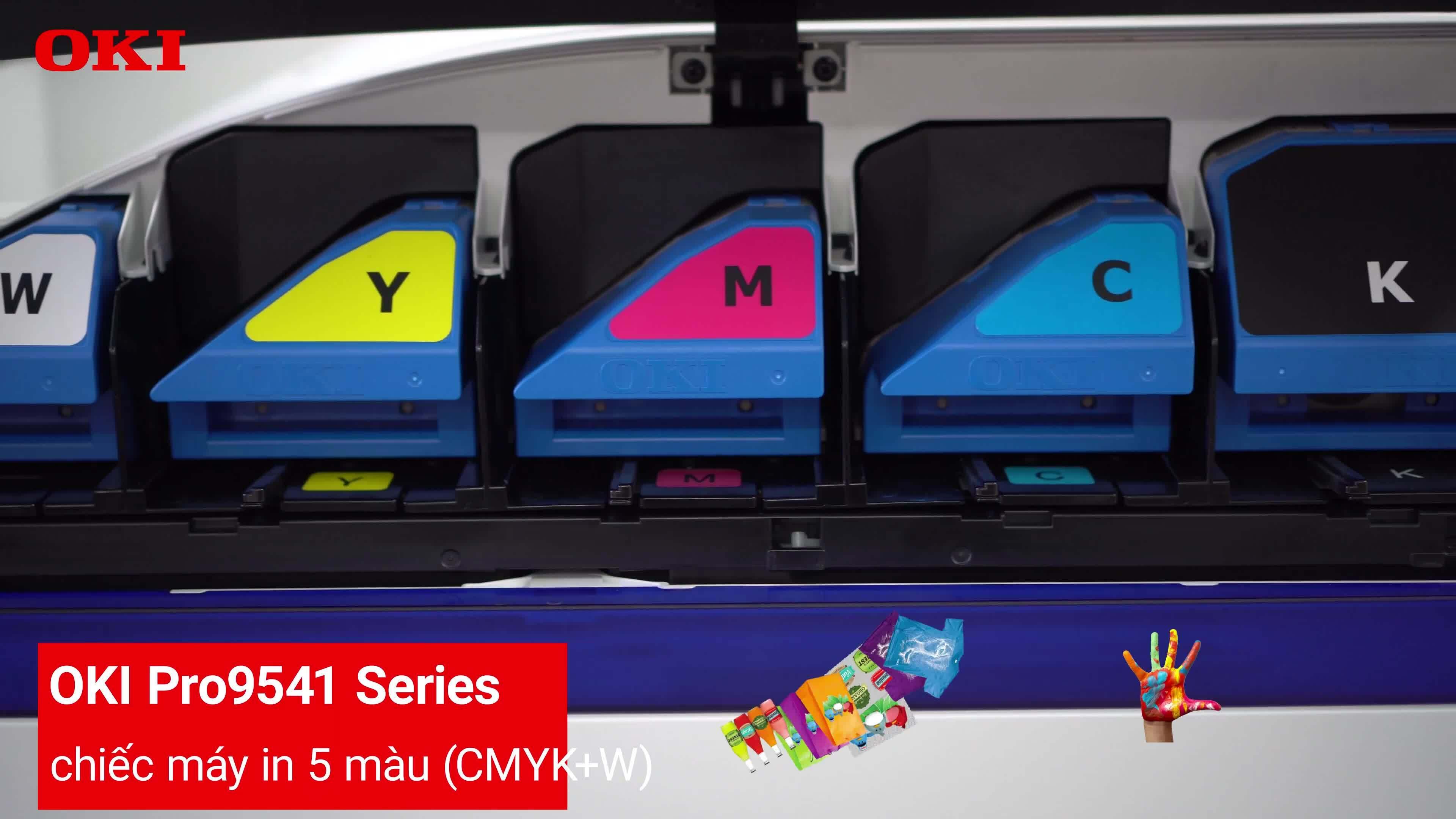 OKI Pro 9 series - máy in chuyên dụng cho công ty thiết kế, tổ chức sự kiện