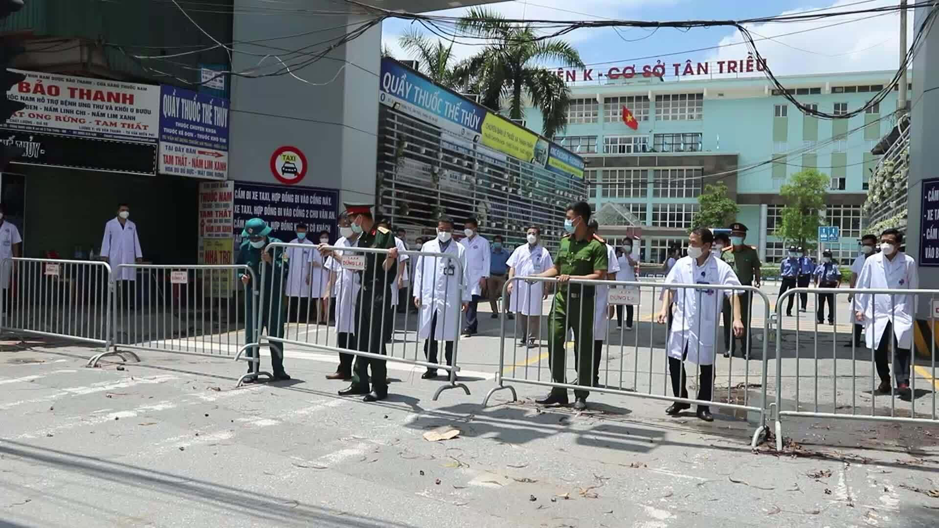 Bệnh viện K cơ sở Tân Triều gỡ phong tỏa
