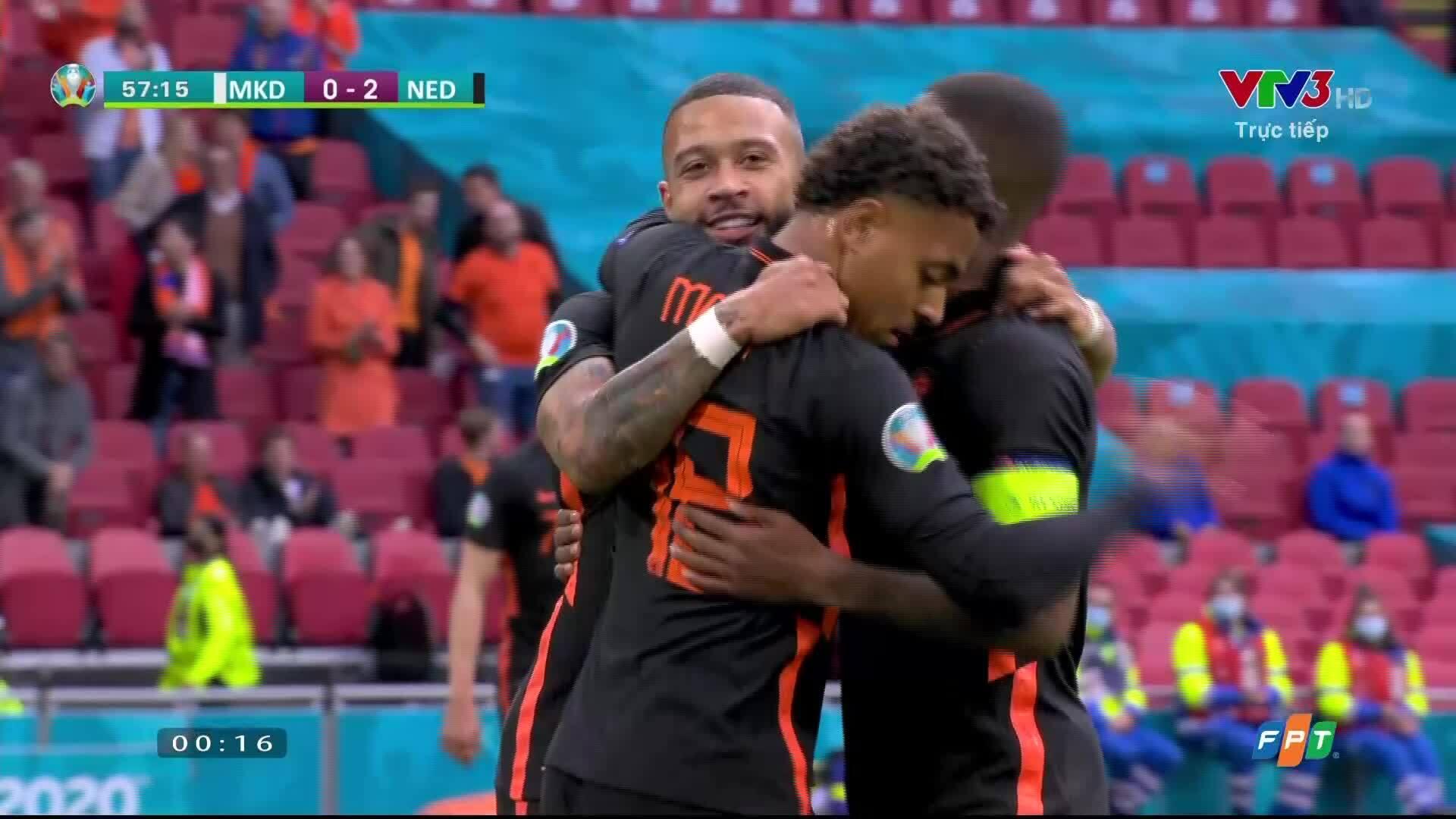Bắc Macedonia 0-3 Hà Lan