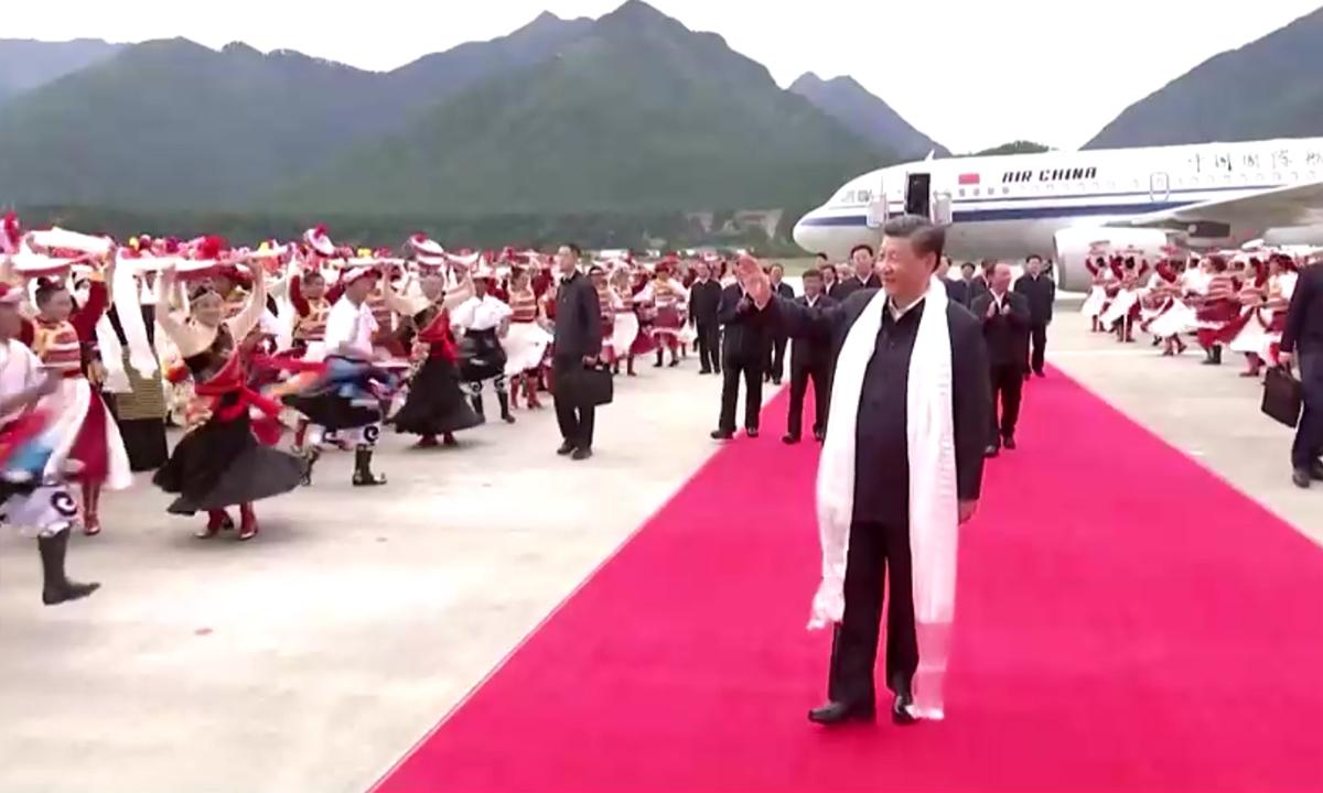 Ông Tập thăm Tây Tạng